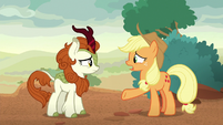 "Applejack ""went quiet in the first place"" S8E23"