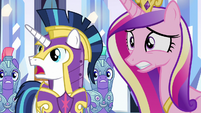 Cadance and Shining Armor filled with dread S9E1