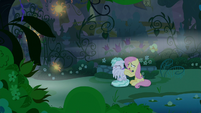 Fluttershy trying to cheer up Flatterfly S9E17
