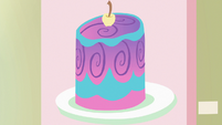 Painting of a colorful cake S7E3
