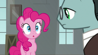 Pinkie Pie getting comedic inspiration S9E14