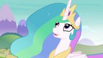 Princess Celestia looking at Twilight S8E2