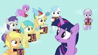 Rainbow Dash's fan club of fillies appears S7E14