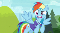 Rainbow Dash getting mad at Rarity S8E17