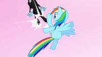 Rainbow Dash kicks another changeling S5E13