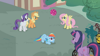 Rainbow Dash tries again for the pony record S1E07