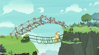 Rainbow and AJ making bridges on top of each other S8E9
