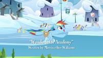 Rainbow flying through the Academy S3E07