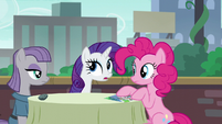 """Rarity acting """"You know what, Pinkie Pie?"""" S6E3"""