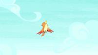 Bird freezes at Pinkie's yovidaphone playing S8E18