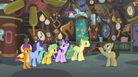 Dr. Hooves brings students to his lab S9E20