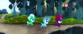 Fizzlepop Berrytwist and her friends playing MLPTM