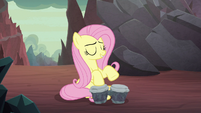 Fluttershy playing the bongo drums S9E9
