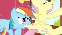 Rainbow Dash struggling Fluttershy door 3 S2E21