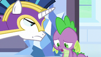 Spike apologizes for his bad joke S6E16