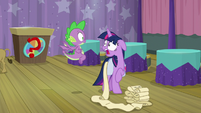 Twilight Sparkle freaks out at Spike S9E16