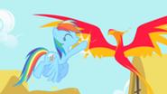 201px-Rainbow Dash high-fives Philomena S1E22