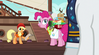 Applejack and Pinkie look back at Rarity S6E22