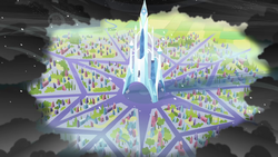 Crystal Empire surrounded by King Sombra S3E2.png