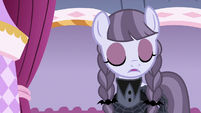 Inky Rose shakes her head with disapproval S7E9