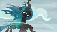 Queen Chrysalis faces the hard winds S9E8