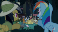 Rainbow and Daring find Caballeron's camp S4E04