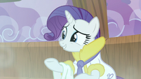 Rarity 'quite certain she'll be along any moment' S6E10