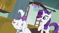 Rarity looking at Opalescence S2E05