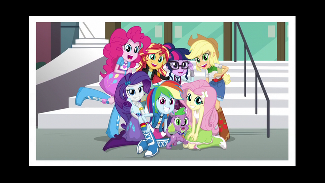 The Mane 7 cast photo EG3.png