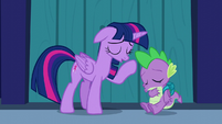 "Twilight and Spike ""phew!"" S5E26"