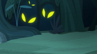 Creatures watch Pinkie and Rarity from the shadows S7E19