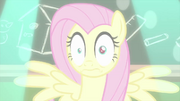 Fluttershy shocked by the camera flash MLPS3