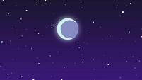 Full moon in the sky over the festival EGSBP