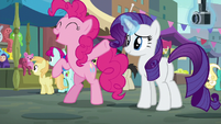 Pinkie Pie --can't wait to see the look on her face-- S6E3