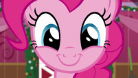 Pinkie Pie smiling wide at the screen BGES2