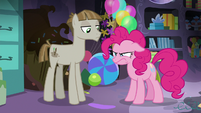 Pinkie getting frustrated at Mudbriar again S8E3