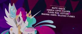 Princess Celestia and Queen Novo nuzzle each other MLPTM