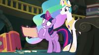 Princess Twilight shocked by what she reads EGFF