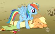 Rainbow Dash caught Applejack 2 S2E14