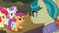 "Scootaloo ""Mom and Dad are back"" S9E12"