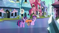 Twilight, Starlight, and Spike disturbed S6E16