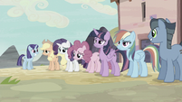 Twilight and friends looking exhausted S5E2