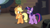 """Applejack """"why do the Hippogriffs need ships"""" S8E21"""