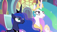 Celestia and Luna hear Rainbow Dash S9E1