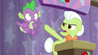 Granny pushing Spike to the side S9E16