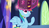 Journal levitates out of Rainbow's hooves S7E14