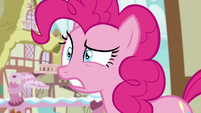 Pinkie Pie surprised over Rarity's announcement S7E9