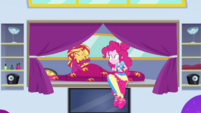 Pinkie Pie waking up Sunset Shimmer CYOE11c