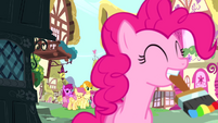 Pinkie Pie with a paintbrush S4E12