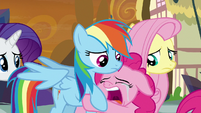 Pinkie crying and hugging Rainbow Dash S9E2